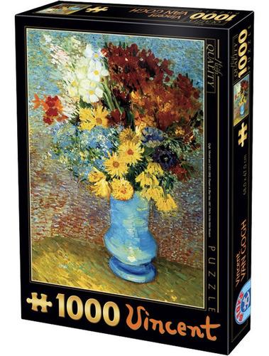 Rompecabezas 1000 Piezas Van Gogh, Flores En Un Florero Azul
