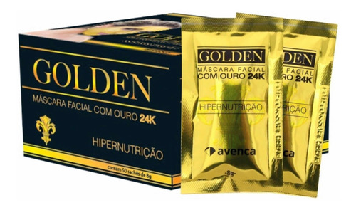 Avenca Máscara Facial Golden De Ouro 8g Caixa C/ 50unid