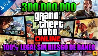 Grand Theft Auto V Online Ps4 - 300 Millones En Tu Cuenta