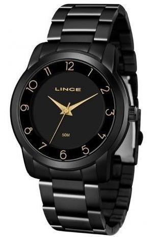 Relógio Dourado Feminino Lince Lrn4590l P2px Analógico