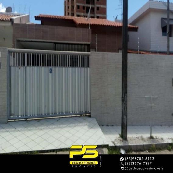 Casa Com 3 Dormitórios À Venda Por R$ 385.000 - Bancários - João Pessoa/pb - Ca0614