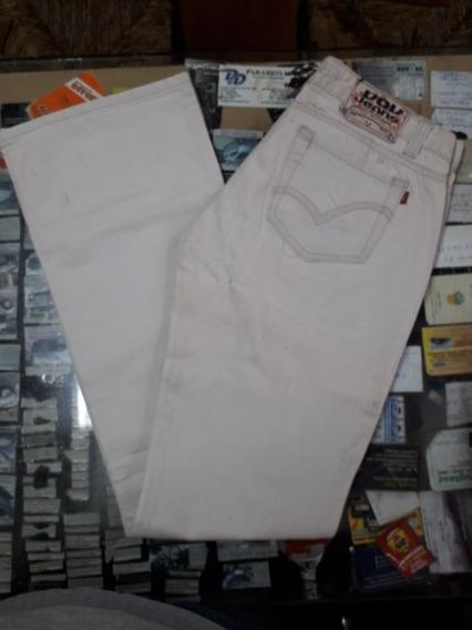 Jeans Blanco Dama Talle 30 Vov