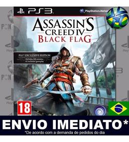 Jogo Ps3 Assassins Creed 4 Black Flag Play 3 Psn Português