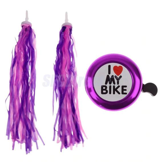 Kit Acessórios Roxo Bicicleta Feminina Infantil Frozen