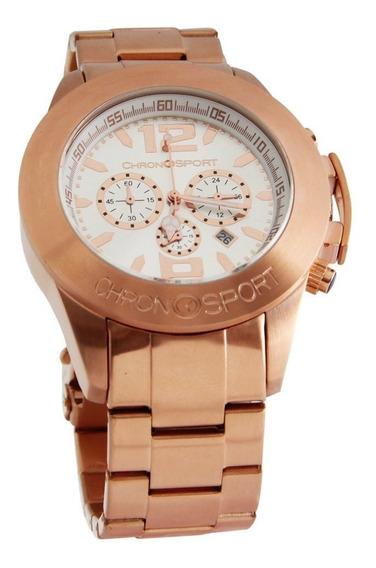 Reloj Chronosport 600 Bronce/blanco Cronómetros Tienda Ofici