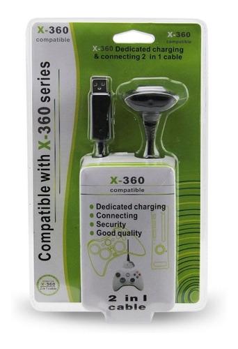 Cable Cargador Para Joystick Inalambrico Control Xbox 360