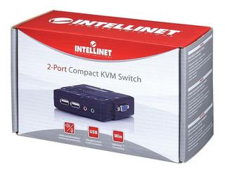 157025 Switch Kvm Compacto Intellinet Usb 2 Puertos