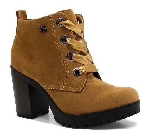 Bota Feminina Ankle Boot Coturno Tratorado Via Marte 1511