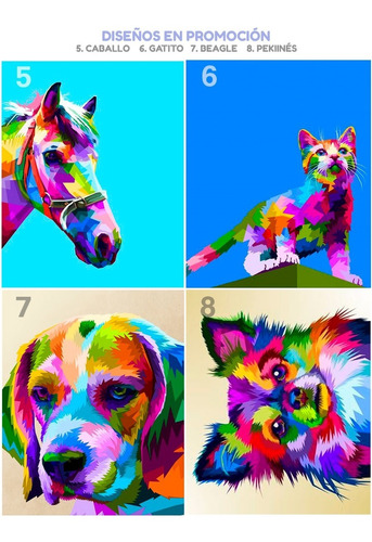 Imagen 1 de 10 de Pinta Por Numeros, Kit Para Pintar Cuadros Pintura Promocion