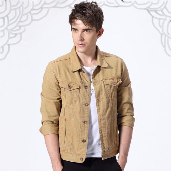 Jaqueta Jeans Masculino Várias Cores Com Lycra