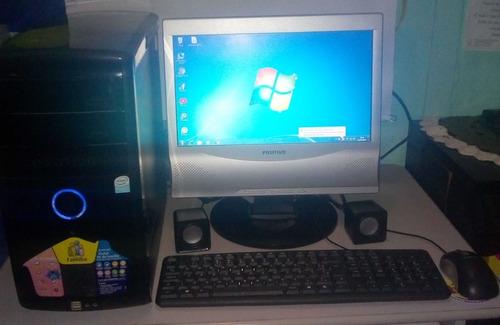 Computador 3 Gb Ram Ddr2  400 Gb Hd + Monitor Lcd + Brindes