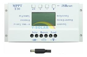 Controlador De Carga Solar 30a Mppt 12/24v T30 ( Off Grid )