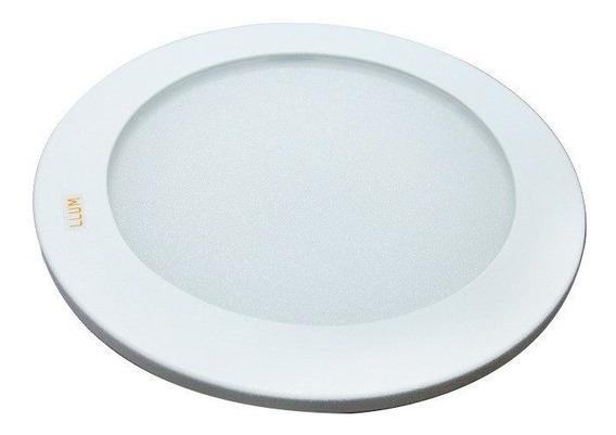 Plafon Embutir Solution Led Round Ø18,2cm 20w 127v Branco