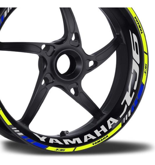 Friso + Adesivo Refletivo M1 Roda Moto Yamaha Xj6 Xj6f