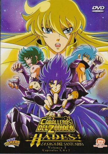 Los Caballeros Del Zodiaco Hades Volumen 3 Tres Dvd