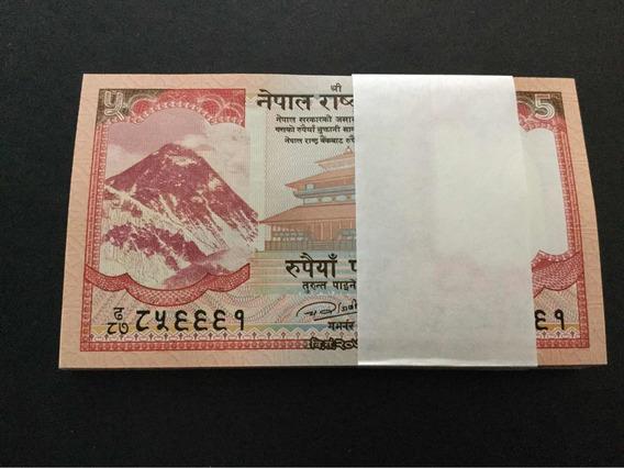 Nepal 5 Rupees Centena De Cédulas Fe Leia Anuncio