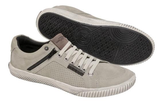 Sapatênis Couro Legitimo Estilo Ferracini Ziper Tchwm Shoes