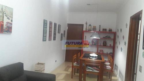 Imagem 1 de 26 de Apartamento Com 1 Dormitório À Venda, 56 M² Por R$ 230.000,00 - Itararé - São Vicente/sp - Ap2428