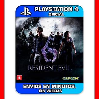 Psn = Resident Evil 6 Ps4