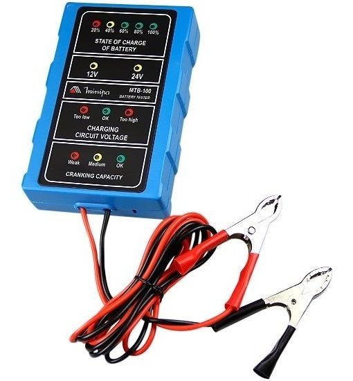 Testador De Bateria Automotiva 12-24v Mtb-100 Minipa