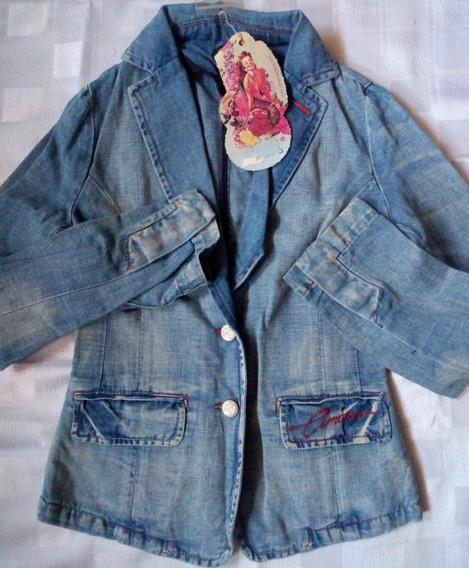 Remate Chaqueta De Blue Jeans Prelavada Para Damas Importada