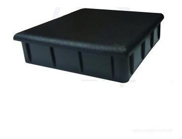 4 Ponteira Quadrada Interna 80 X 80mm Preta Cadeira Mesa