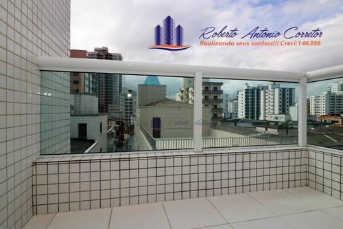 Imagem 1 de 21 de Apartamento Com 2 Dormitórios À Venda, 82 M² Por R$ 595.000,00 - Vila Guilhermina - Praia Grande/sp - Ap0821