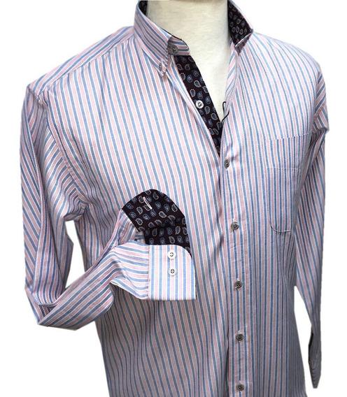 Camisas De Raya Louis Feraud Manga Larga