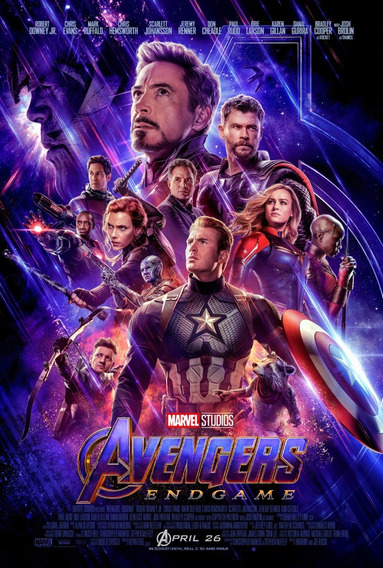 Poster Lona Vinilica - Avengers End Game - Envío Gratis!