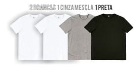 Camiseta Hering Combo 4 Peças Manga Curta World Ref.0201