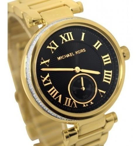 Relógio Michael Kors Mk5989 Skylar Dourado Preto