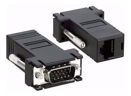 Kit 2 Conector Adaptador Vga Macho X Rj45 P/ Cabo De Rede