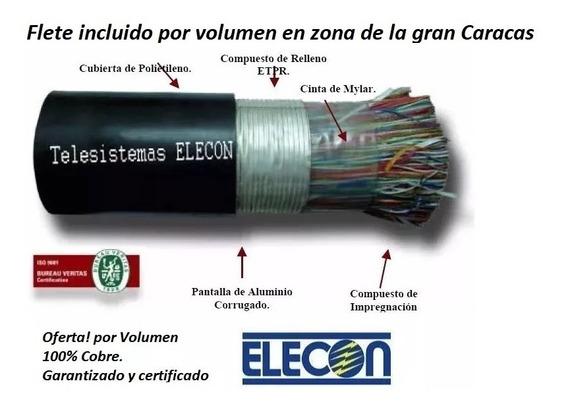 Cable Telefonico Multipar Exterior 10 20 50 100 Pares Elecon