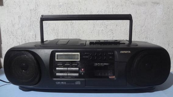 Rádio Aiwa _ Mini System _ Csd-sr 22 - Ler Descrição !!