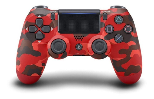 ..:: Control Dualshock 4 Red Camuflage::.. Para Ps4 En Gc