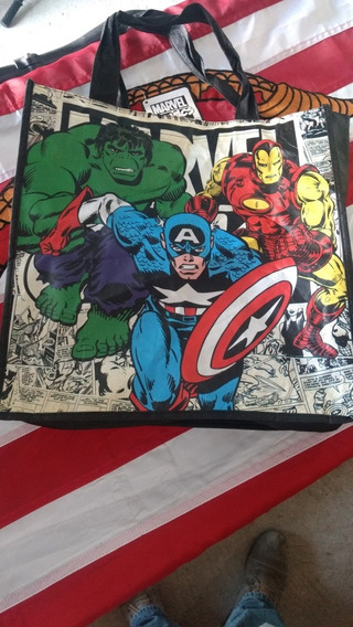 Bolsa De Marvel Comics Doble Vista Original