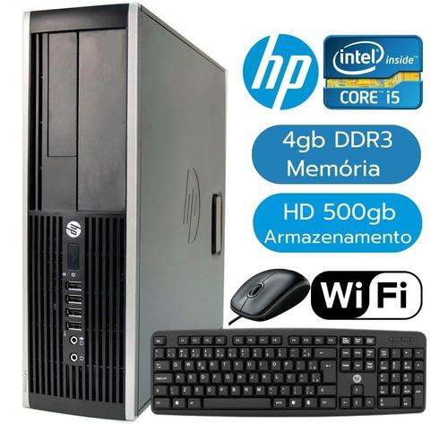Computador Desktop Hp Intel I5 2º Ger 4gb Hd 500gb + Wi-fi