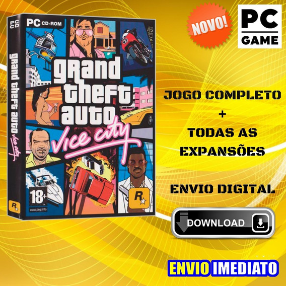 Grand Theft Auto - Vice City - Jogo Para Pc - Envio Digital