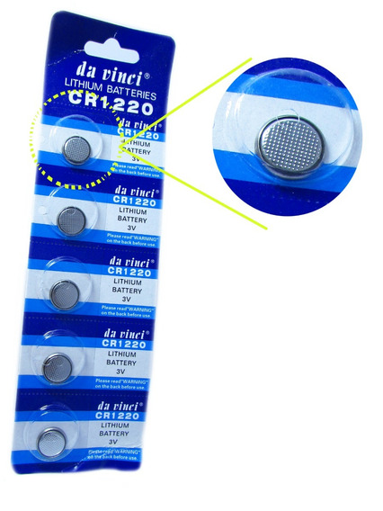 Cartela De Pilhas C/ 05 Unidades - Cr1220 3v