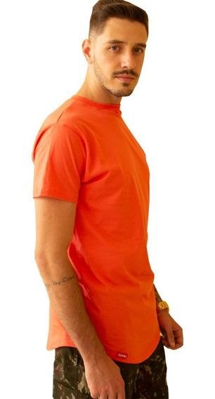 Camiseta Masculina Longline Alongada Swag C35 Várias Cores