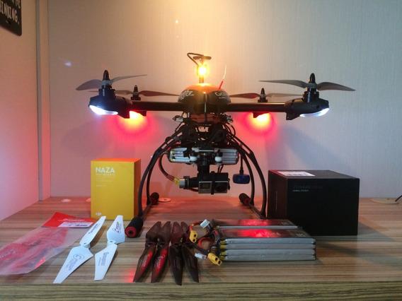 Drone Quad 500- Dji Naza-m V2 + Dji Zenmuse H3-3d -filmagens