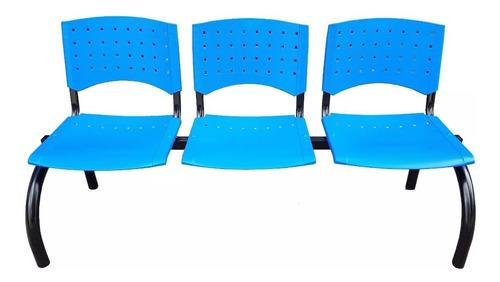 Silla Tandem De 3 Asientos Plástico- Ideal Para Sala De Espera  - Cuotas- Fabricacion Nacional- Garantia De Fabrica-