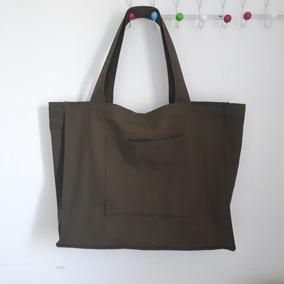 Maxi Bag Lona Verde - Eco Shop Bag Sacola Sustentável