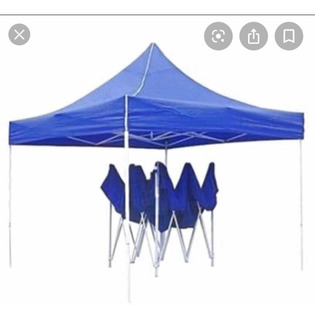 Carpa Armable Color Azul De 4 Por 3.30 De Regalo Petaca