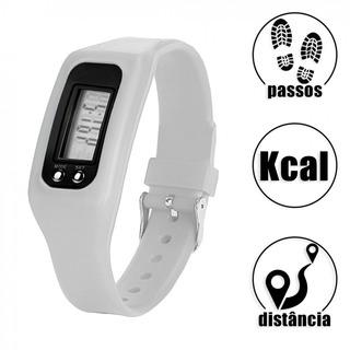 Relógio Digital Contador Passos Caloria E Distancia Branco