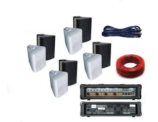 Sistema De Sonido Musica Funcional Para Comercios 8 Bafles