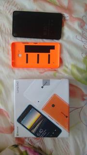 Microsoft Lumia 640 Com Capa Laranja Semi Nova