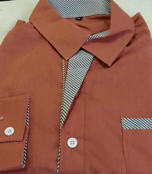 Camisa Social - Slim M Long Casual Masc. P/e Varios Modelos