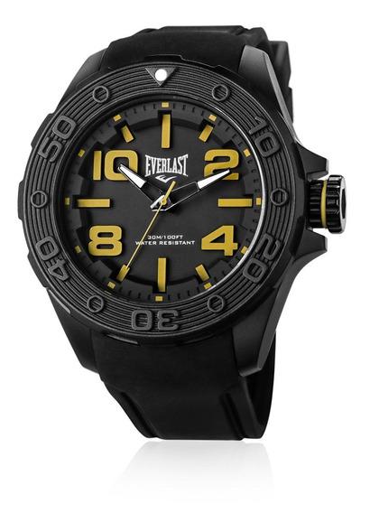 Relógio Pulso Everlast Masculino Silicone Preto E618
