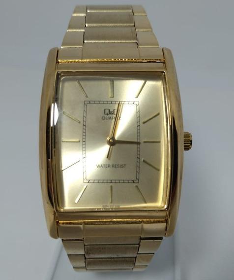 Relógio Q&q By Citizen Dourado Q874-010y
